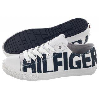 546447427b849 Trampki Tommy Hilfiger Low Cut Lace-Up Sneaker T3B4-30274-0618 X008 White