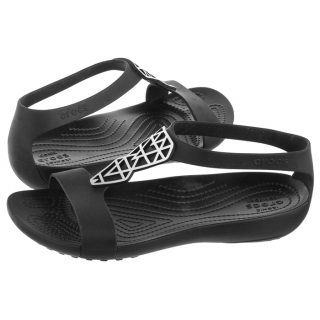 a9b51a009 Sandały Crocs Serena Embellish Sandal W Silver Black 205601-01V. 36 37 37 38  38 39 ...