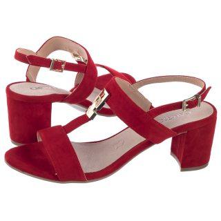 22778d8b87d6a Sandały Caprice Czerwone 9-28303-22 524 Red Suede