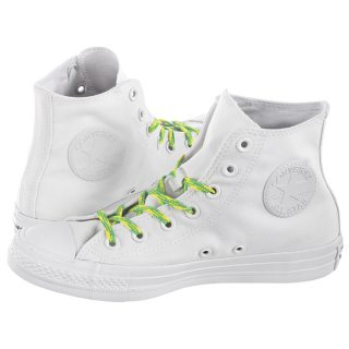 662a3f61ad394 Trampki Converse CT All Star Hi White/Acid Green 564123C
